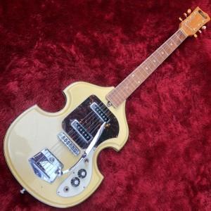 c.1960s Concert(Kawai輸出モデル)PV-2V バイオリンシェイプビザールギター 調整済み 6ヶ月保証